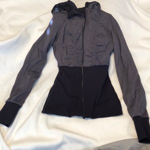 Reversible, purple hoodie from Lululemon.